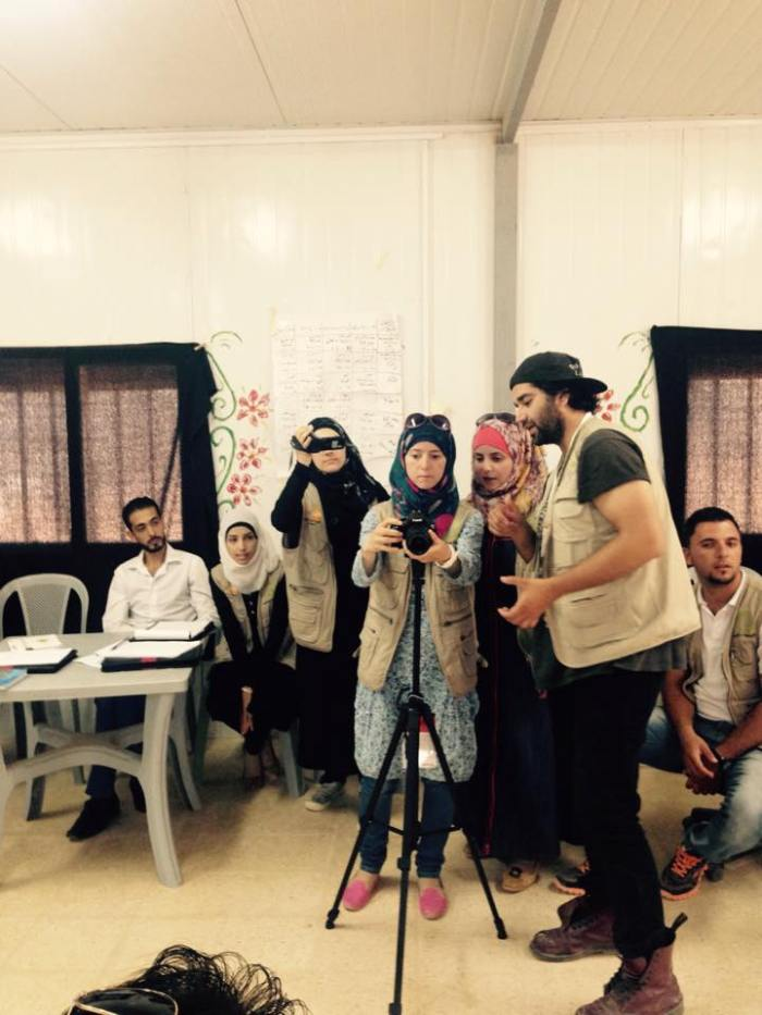 expression exercises w/ training of refugee youth volunteers July 2015, Questscope